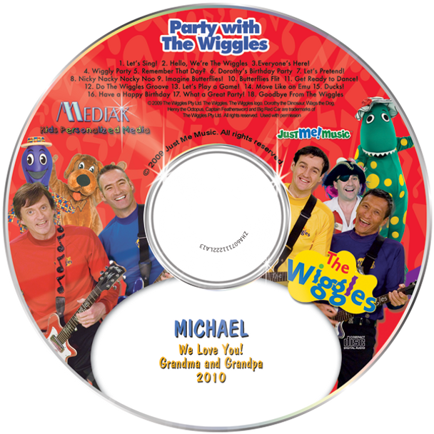 Party with the Wiggles Personalized CD for Kids