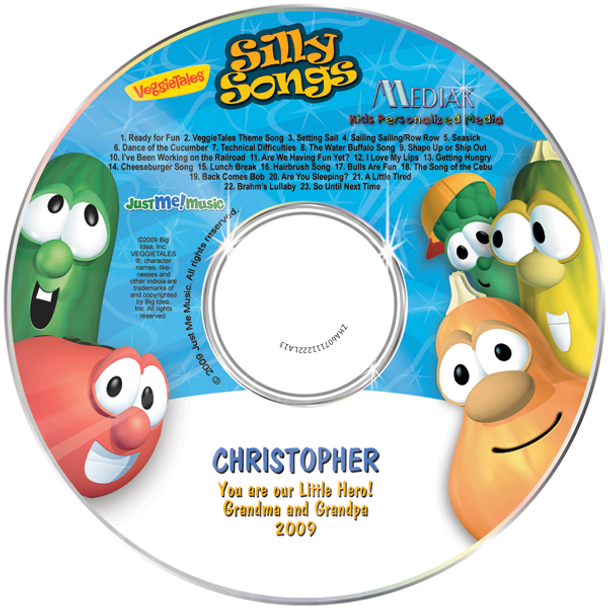 Personalized Music CD Veggie Tales Silly Songs