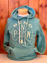Lagoon Blue. Great fit for both men and women. Super soft hoodie. Longer in length and sleeve. Athletic Fit.