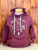 Maroon. Great fit for both men and women. Super soft hoodie. Longer in length and sleeve. Athletic Fit.