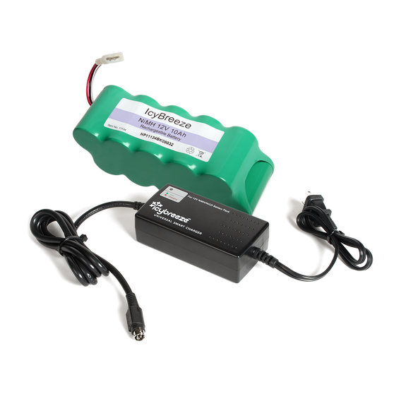 12V 10Ah NIMH Battery and Smart Charger for Original IcyBreeze