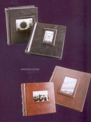 "Window Album - Italian Leather - 9"" x 12"""