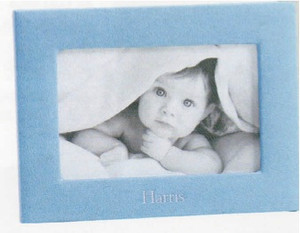 "Leather Baby Frame for 4 x 6"" photo"