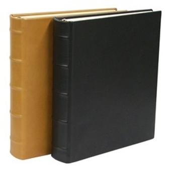 Photo Album - Traditional Black Leather and Traditional British Tan