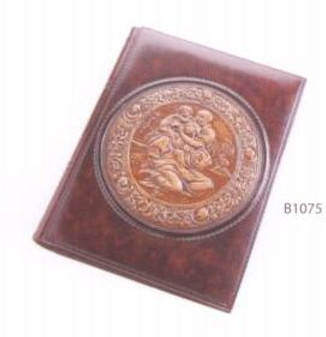 Italian Leather Photo Album - Michelangelo's Sacra Famiglia