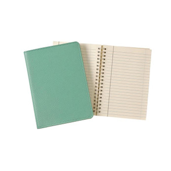Refillable Leather Journal in Tiffany Blue - in stock!