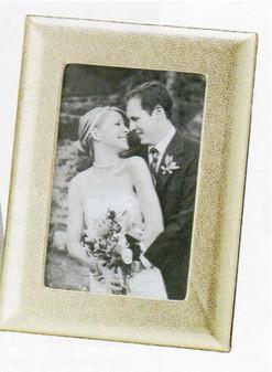 "Luxe Leather Wedding Photo Frame - Medium 4 x 6"""