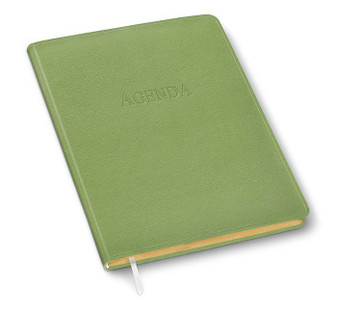 2020-2021 or Anytime....start Your New Year when YOU want to!  This perfect undated agenda, datebook, calendar goes at your pace & comes in a range of graceful colors like this Seagrass Green  Also available in: Tuxedo Black, Harvard Burgundy,  Hunter Green, Blazer Navy,  Dark Chocolate Brown, Chestnut Brown,  Grape & Deep Antique Pink