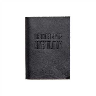 Keep Democracy in your pocket - Hand sewn Pocket-sized United State Constitution  in Mod Leather Jacket Black