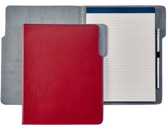 20sDenim Notepad Portfolio Talbot's Red  with Slate jeans leather interior