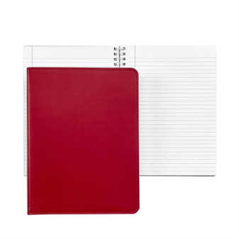 Every Day Refillable Leather Journal in Talbots Red - in stock!