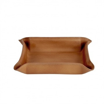 Soft British Tan Leather Portable Flexi-Organizer