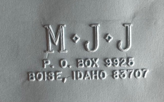 Complete Address Rectangle - classic star monogram address