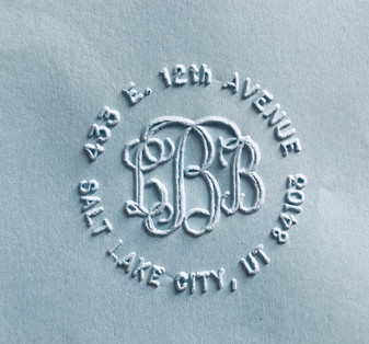 Round Address with Classic monogram  Mono 10