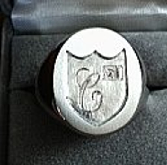 Custom Crest Sterling Silver Ring