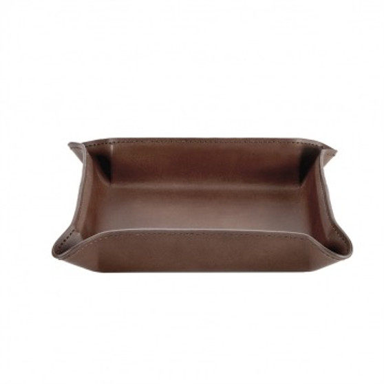 Soft Chocolate Brown Leather Portable Flexi-Organizer