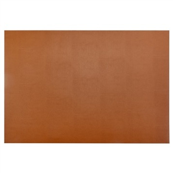 Yoga Mat Style Desk Pad in British Tan Leather - large size