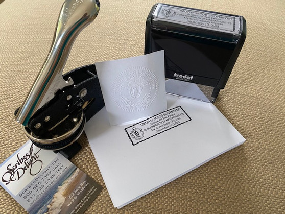 Create your own Custom Rectangle Rubber stamp & matching embosser!