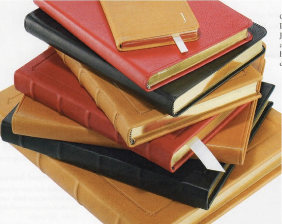 """7 x 9 1/4"""" Journal - available in Smooth Traditional Black, Red, and British Tan"""