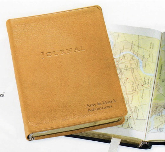 """Leather Soft Cover Amelia Earhart Travel Journal - 4 x 6"""""""