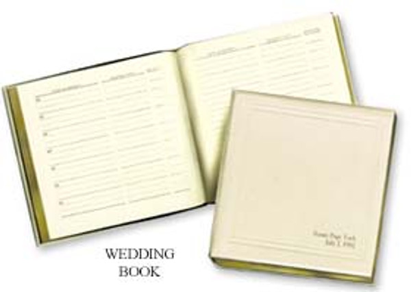 Wedding Record Album - White Leather