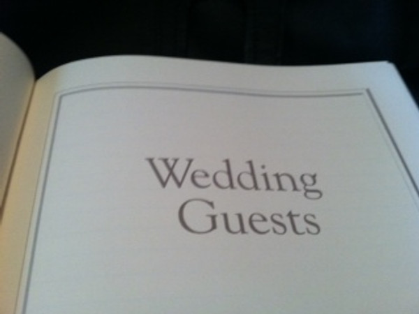 Wedding Journal - White Leather