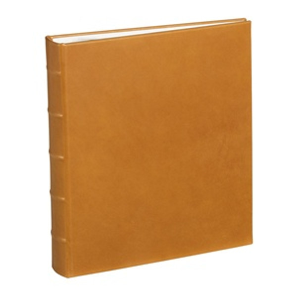 Traditional British Tan Leather Loose-Leaf Photo Album