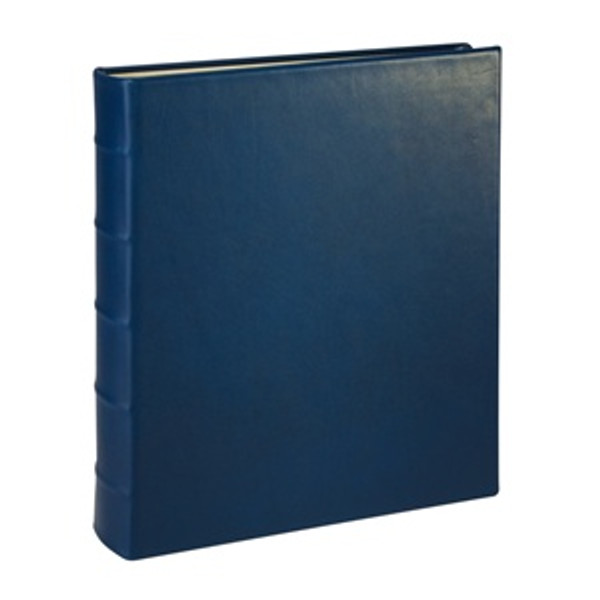 Traditional Blue Leather Loose-Leaf Photo Album