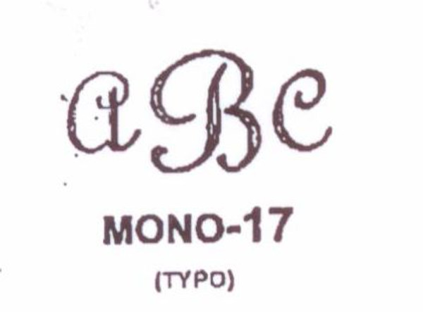 Center initial option: style Mono17