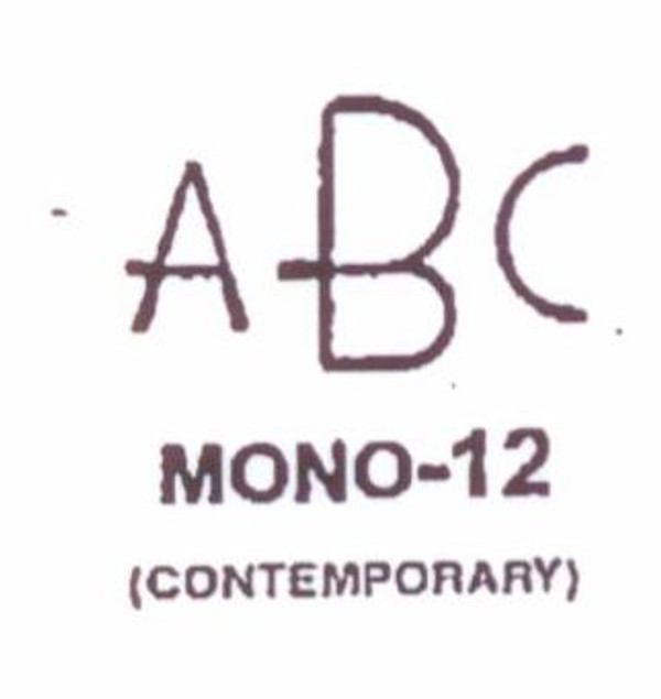 Center initial option: style Mono12