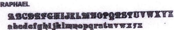 Address font Raphael