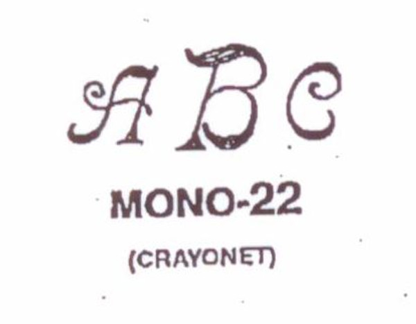 Center initial option: style Mono22