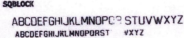 Address font SQBlock