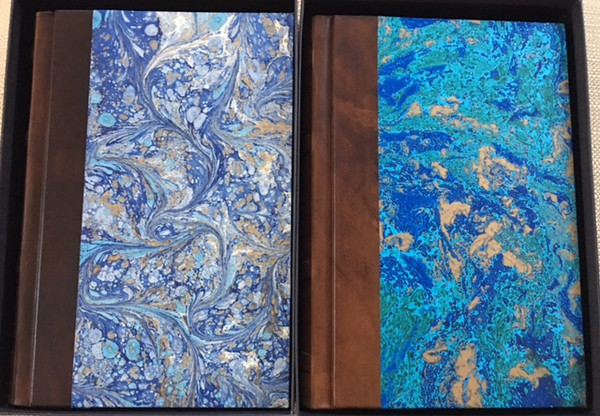 Blue Marbled - left & Green Marbled - right