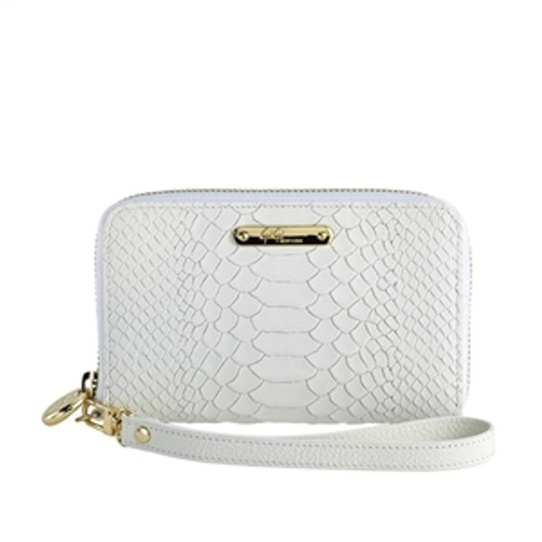 Wristcase Python Carribbean Sand White