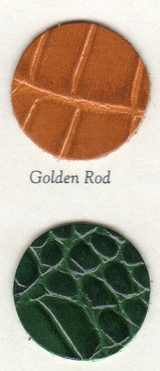 iPad Case Croc embossed Leather Colors - Golden Rod and Forest Green