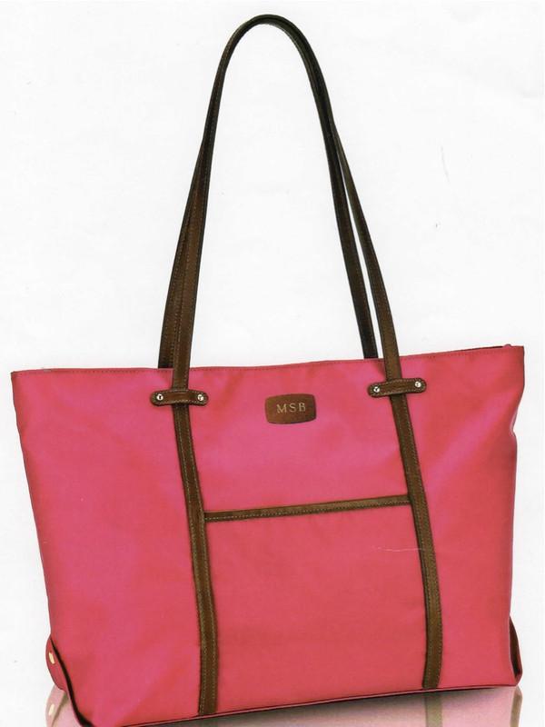 Boston Bag - shown in Hot Pink, British tan trim and Monogram