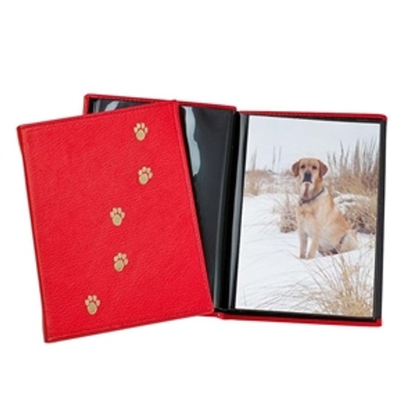 Pets Photo Album - Red with PawPrints