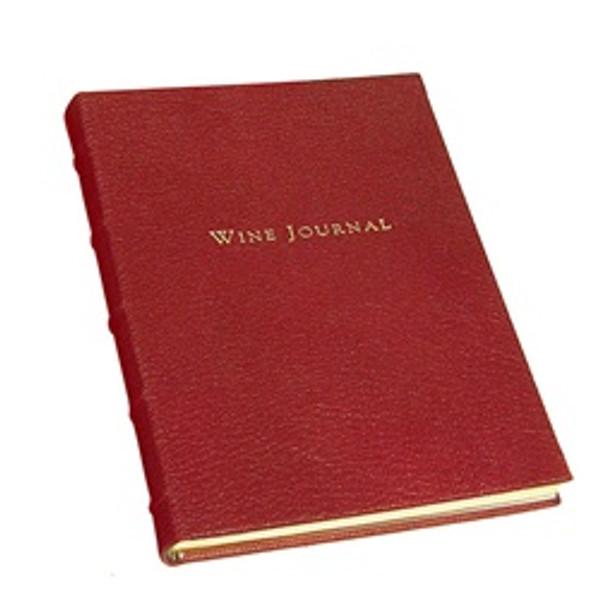 Beautiful Keepsake Wine Journal Garnet Leather