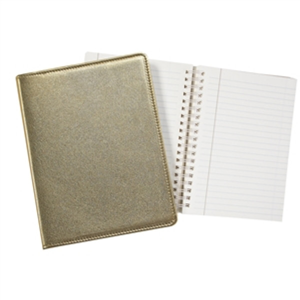 "Refillable Journal 7x9"" Gold Leather"