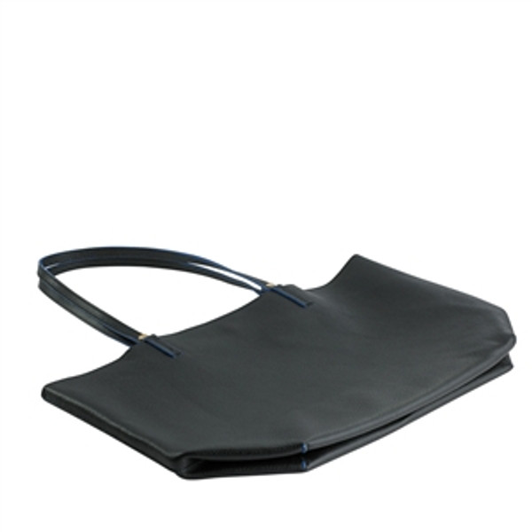 Black Leather Tote flat