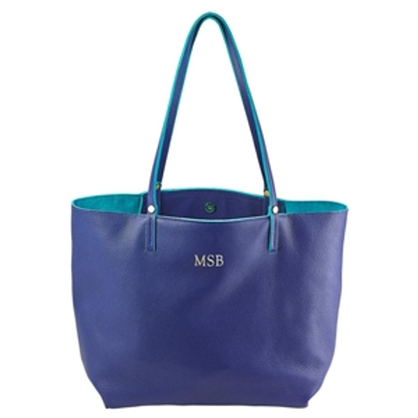 Indigo Leather Tote