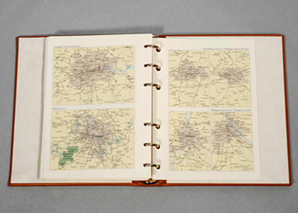 Pages include world maps, international calling codes, etc.