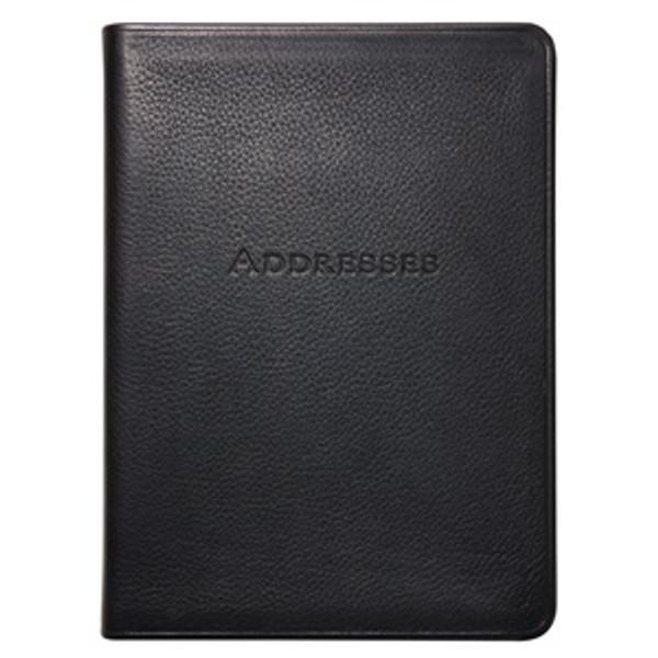 "Black Leather Bound Address Book 5"" x 7"""