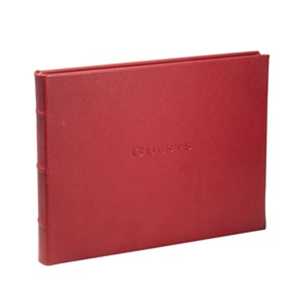 Traditional Talbots Red Leather Guest Book