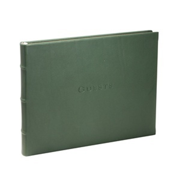 Green Leather Guest Book