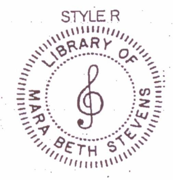 Style R g-clef