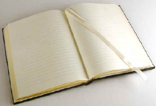 Gilt edged, smith-sewn, 100% cotton lined pages with satin bookmark