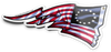 Pats US Flag Sticker