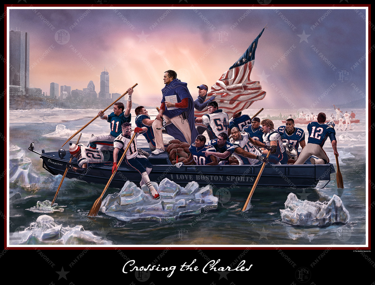 Crossing The Charles Poster Wall Print